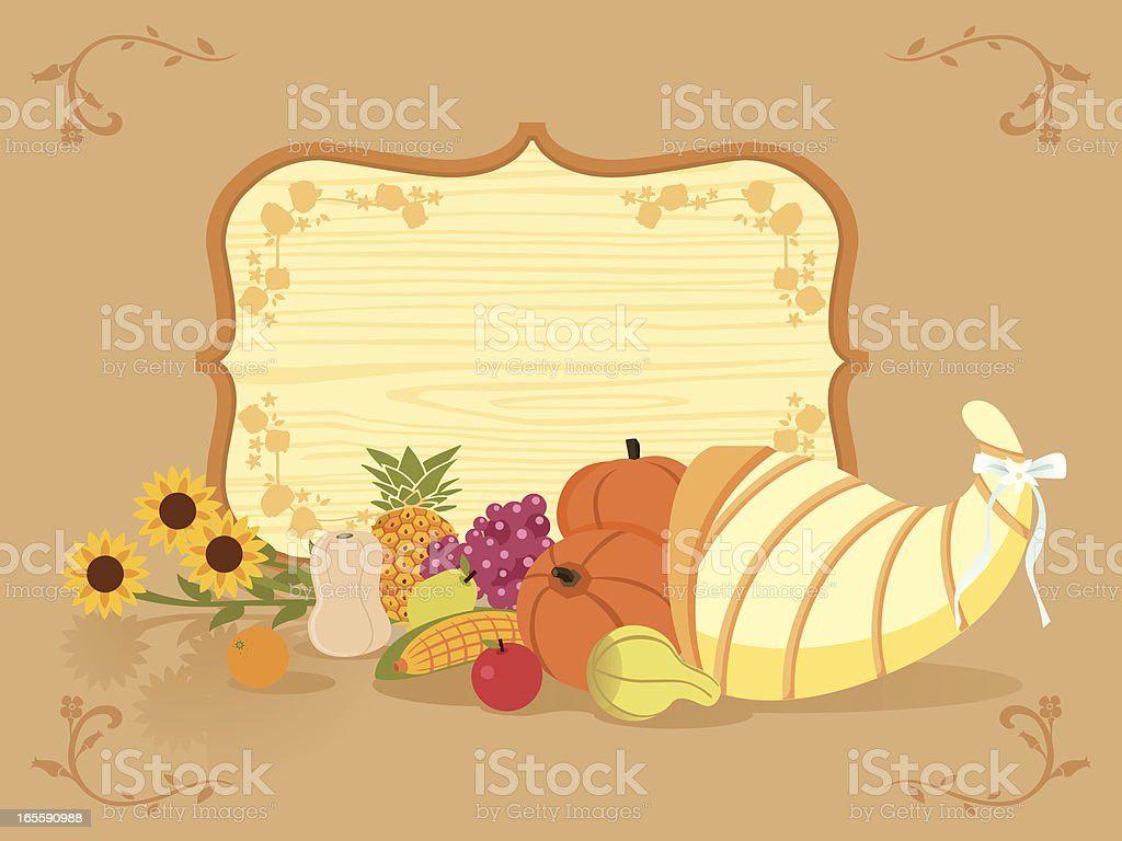 thanksgiving greeting royalty-free stock vector art
