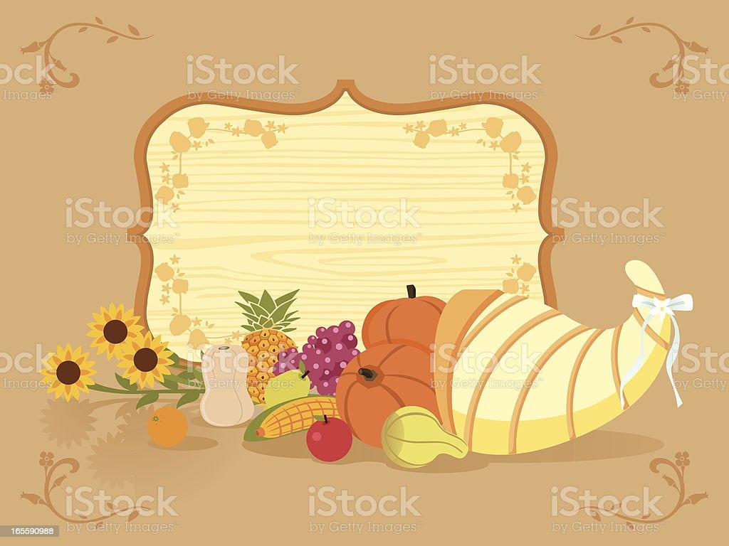 thanksgiving greeting vector art illustration