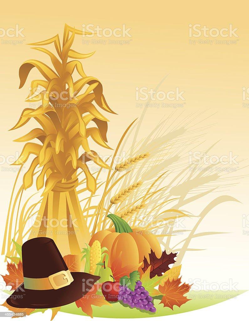 Thanksgiving Harvest vector art illustration
