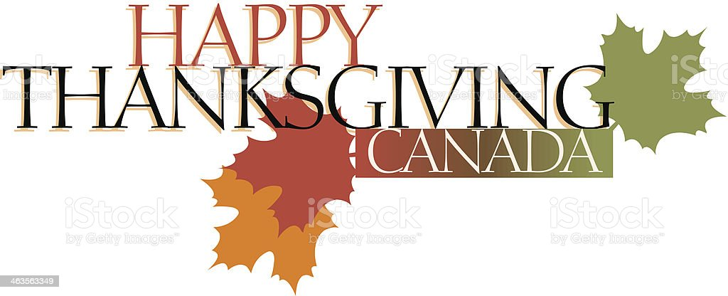 Thanksgiving Heading vector art illustration