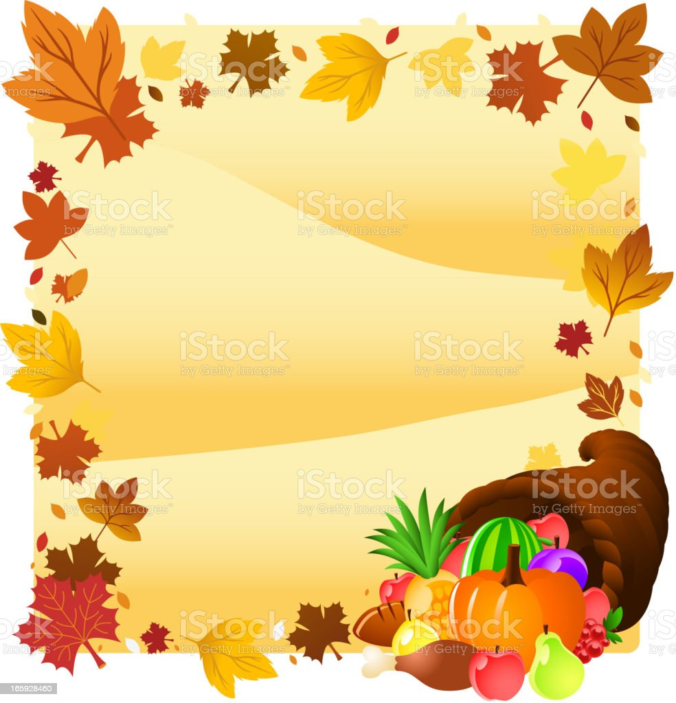 Thanksgiving horn design. royalty-free stock vector art