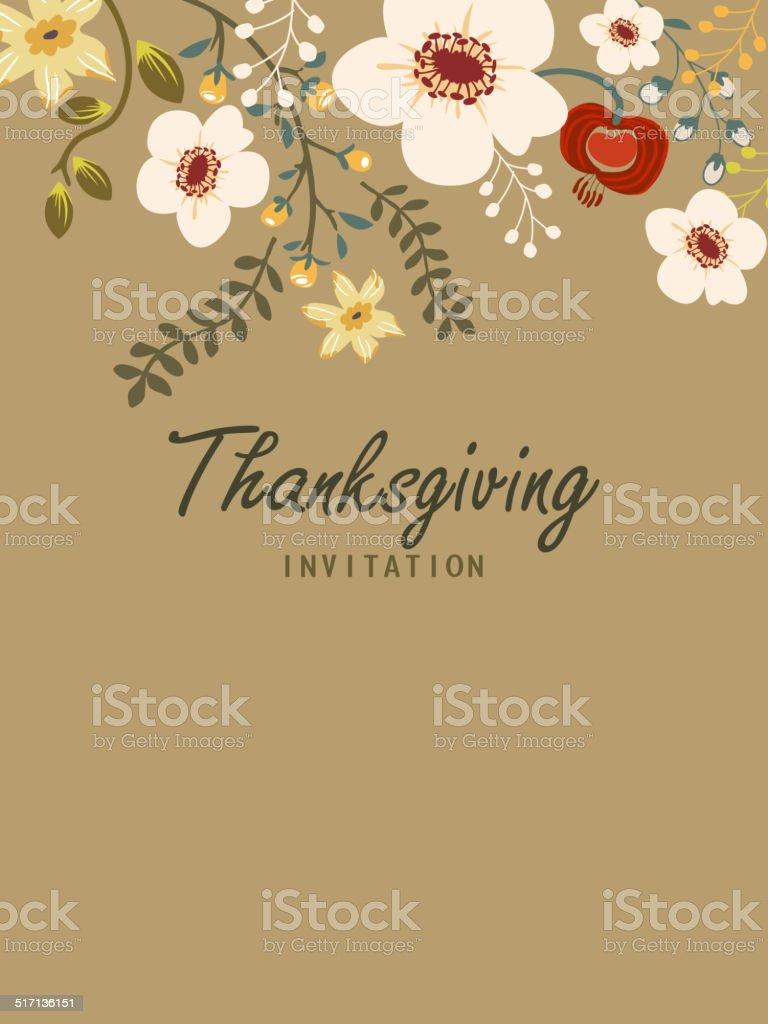 Thanksgiving Invitation vector art illustration