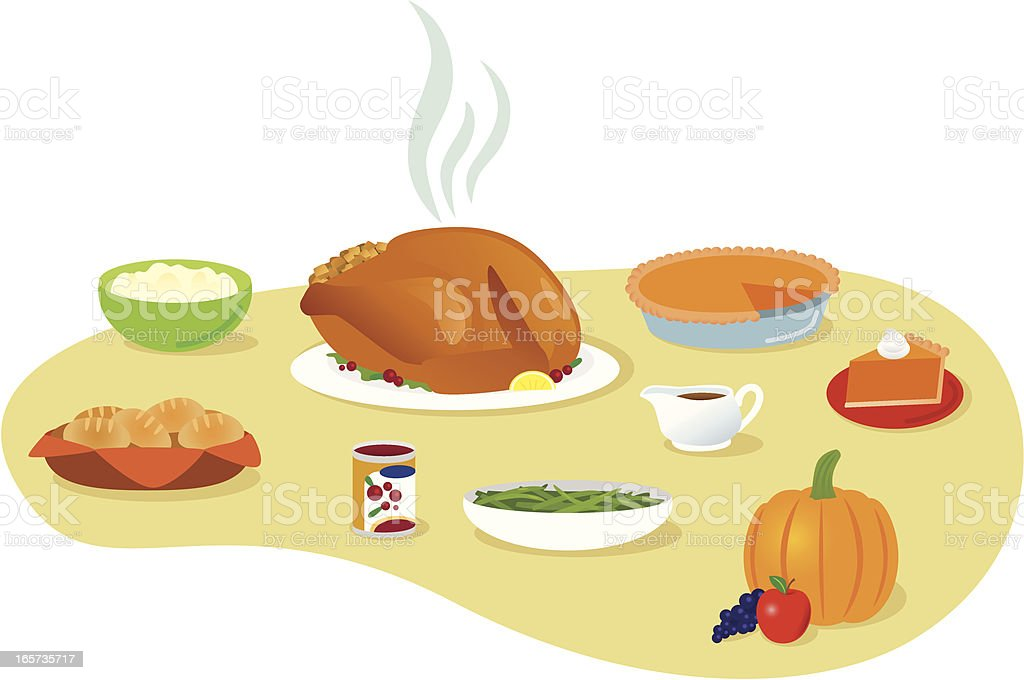 Thanksgiving Meal vector art illustration