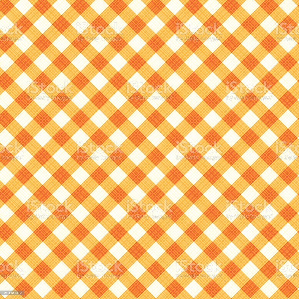 Thanksgiving or autumn gingham fabric, seamless pattern included vector art illustration