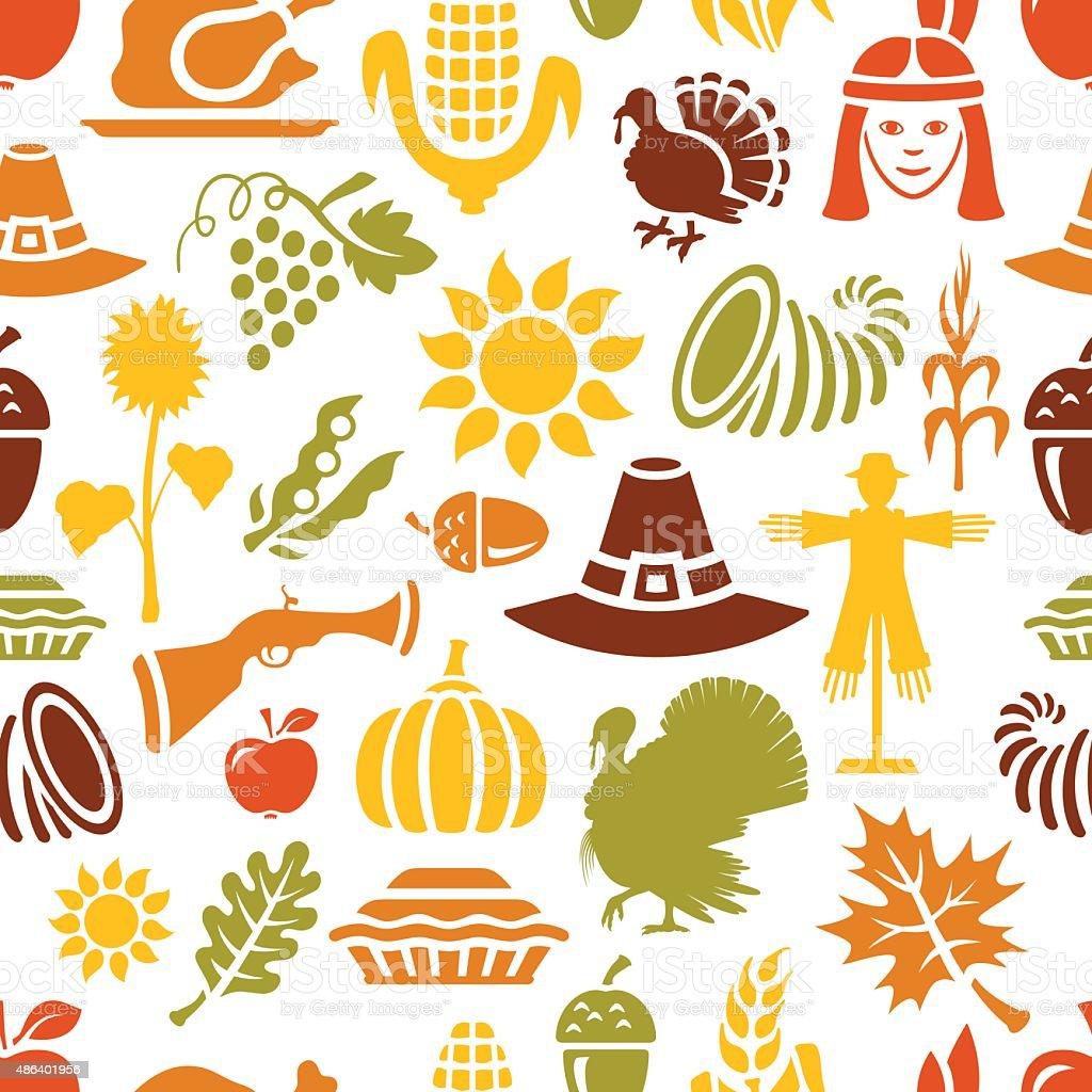 Thanksgiving Pattern vector art illustration
