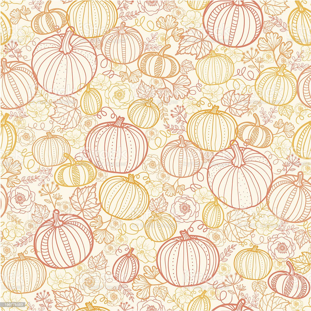 Thanksgiving Pumpkins Seamless Pattern Background royalty-free stock vector art