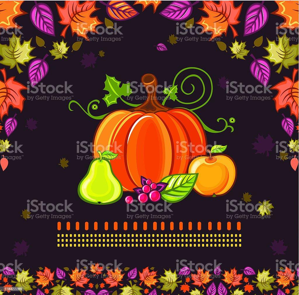 Thanksgiving stilllife royalty-free stock vector art