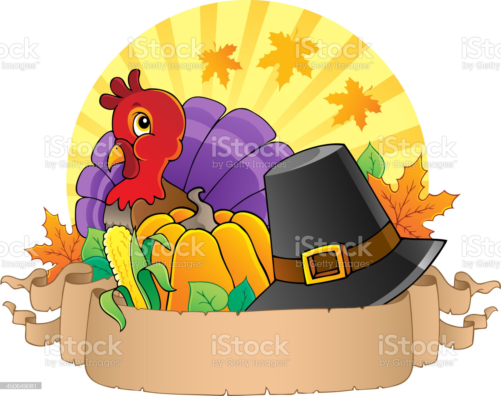 Thanksgiving theme parchment 3 royalty-free stock vector art