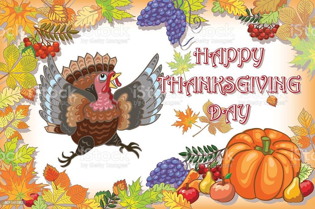 Thanksgiving, turkey, day vector art illustration