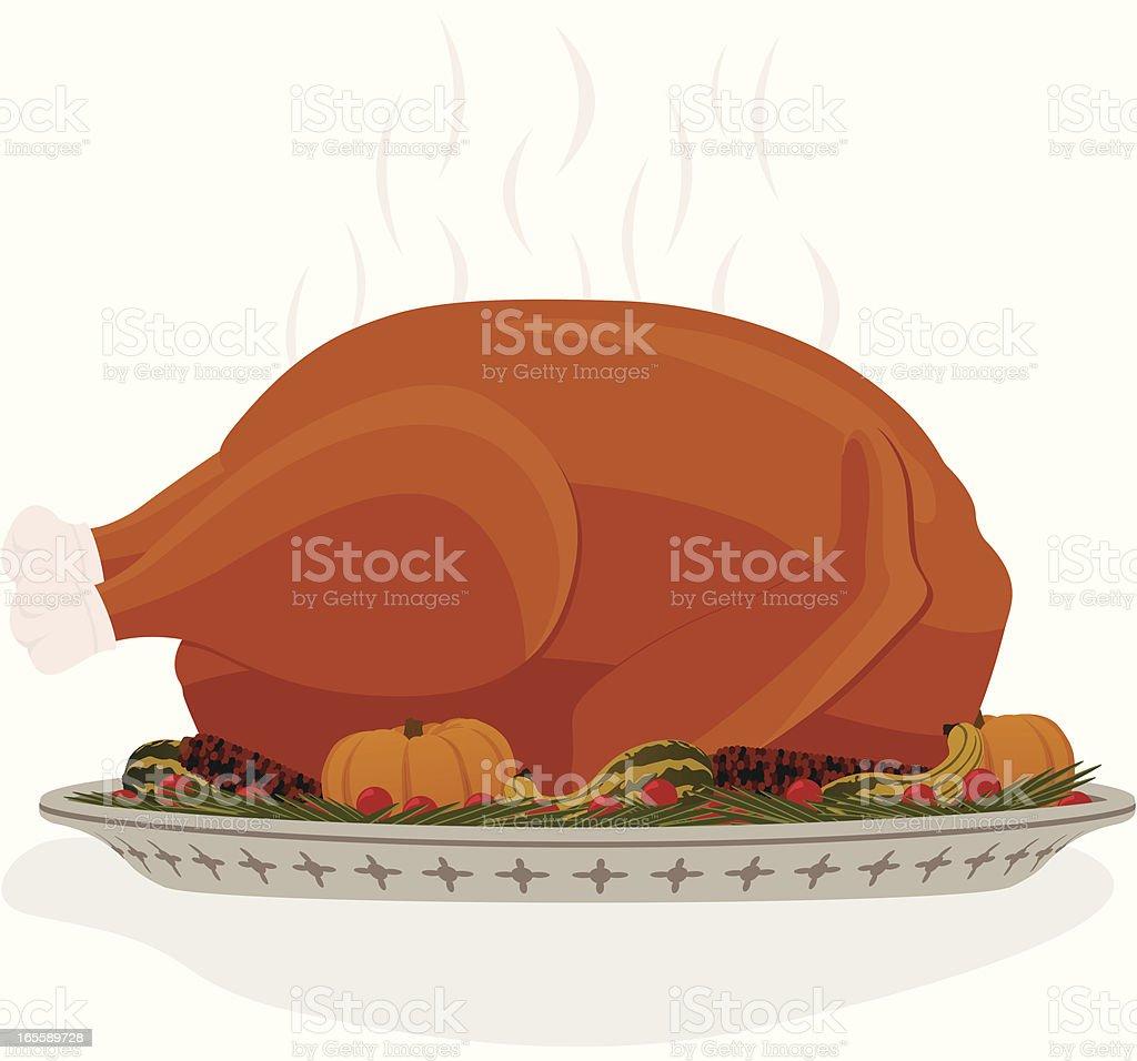 Thanksgiving Turkey Dinner royalty-free stock vector art