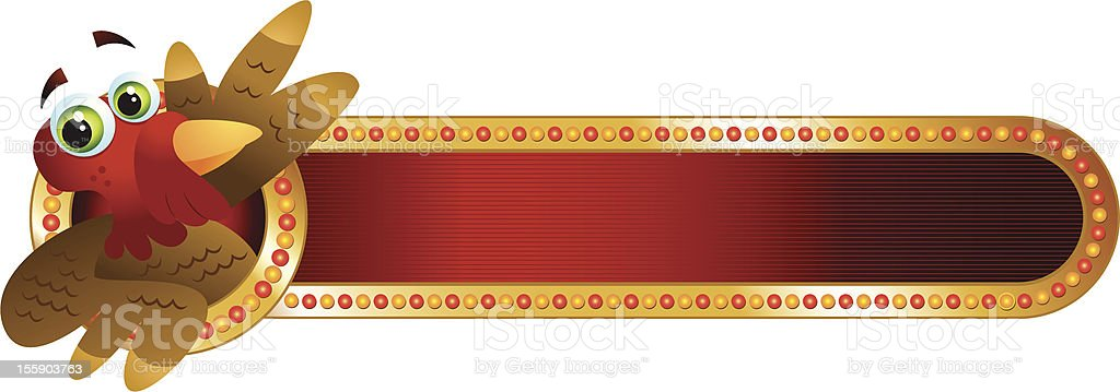 Thanksgiving Turkey Marquee royalty-free stock vector art