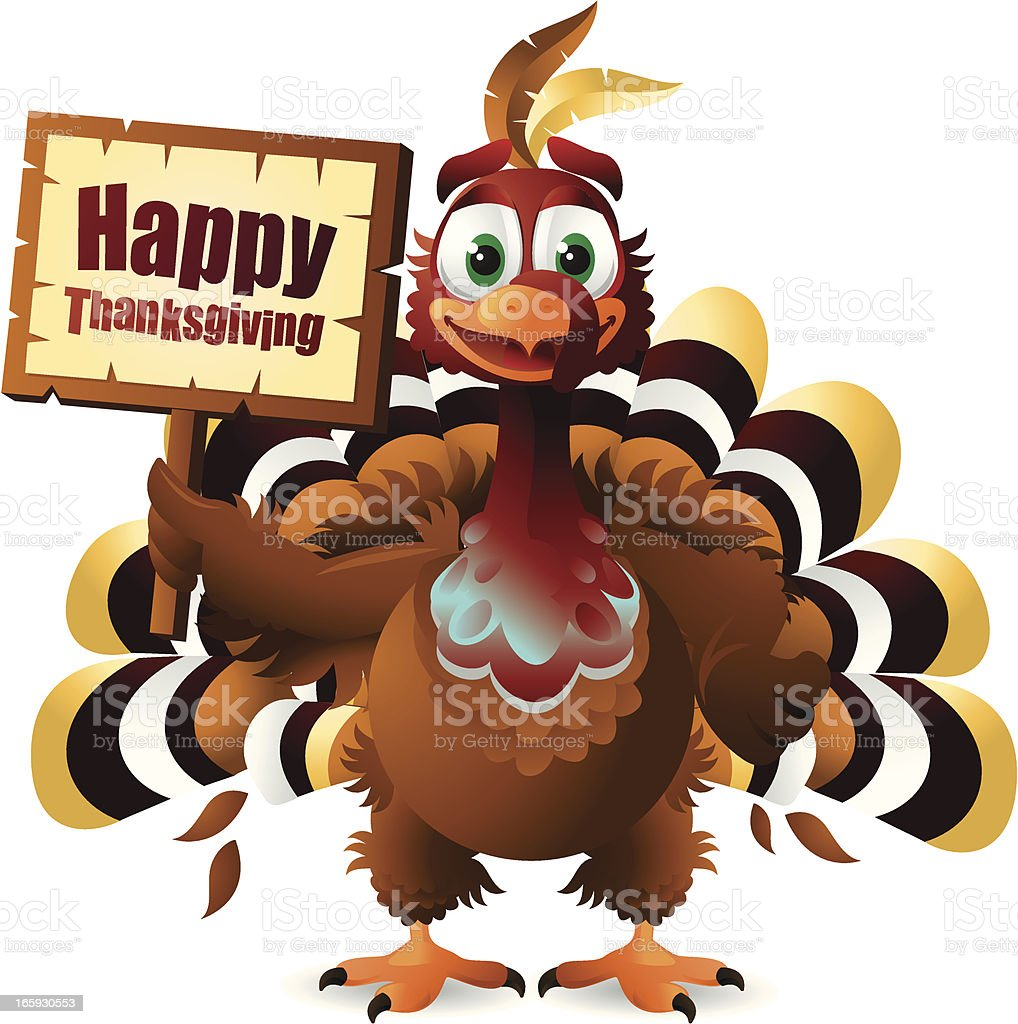 Thanksgiving Turkey royalty-free stock vector art