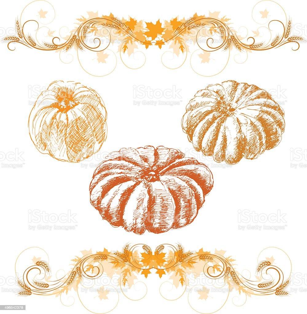 thanksgiving vector art illustration