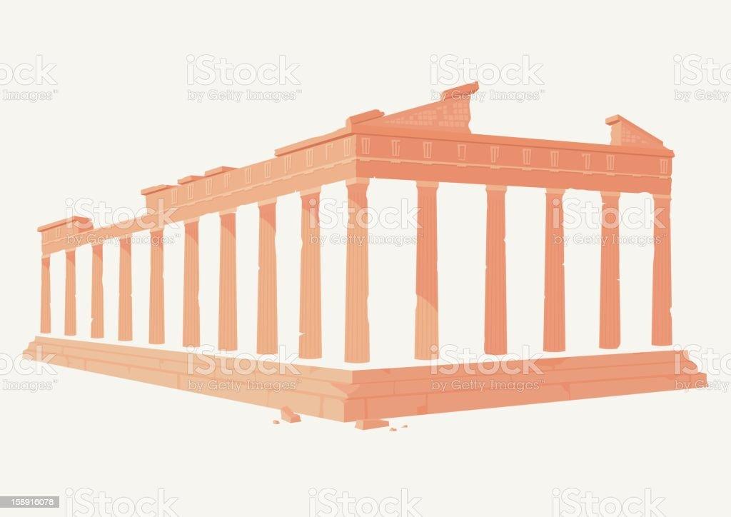 The Acropolis, Greece vector art illustration