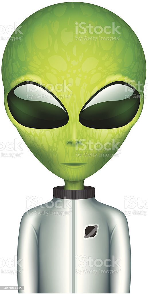 The Alien in a spacesuit cartoon character vector art illustration