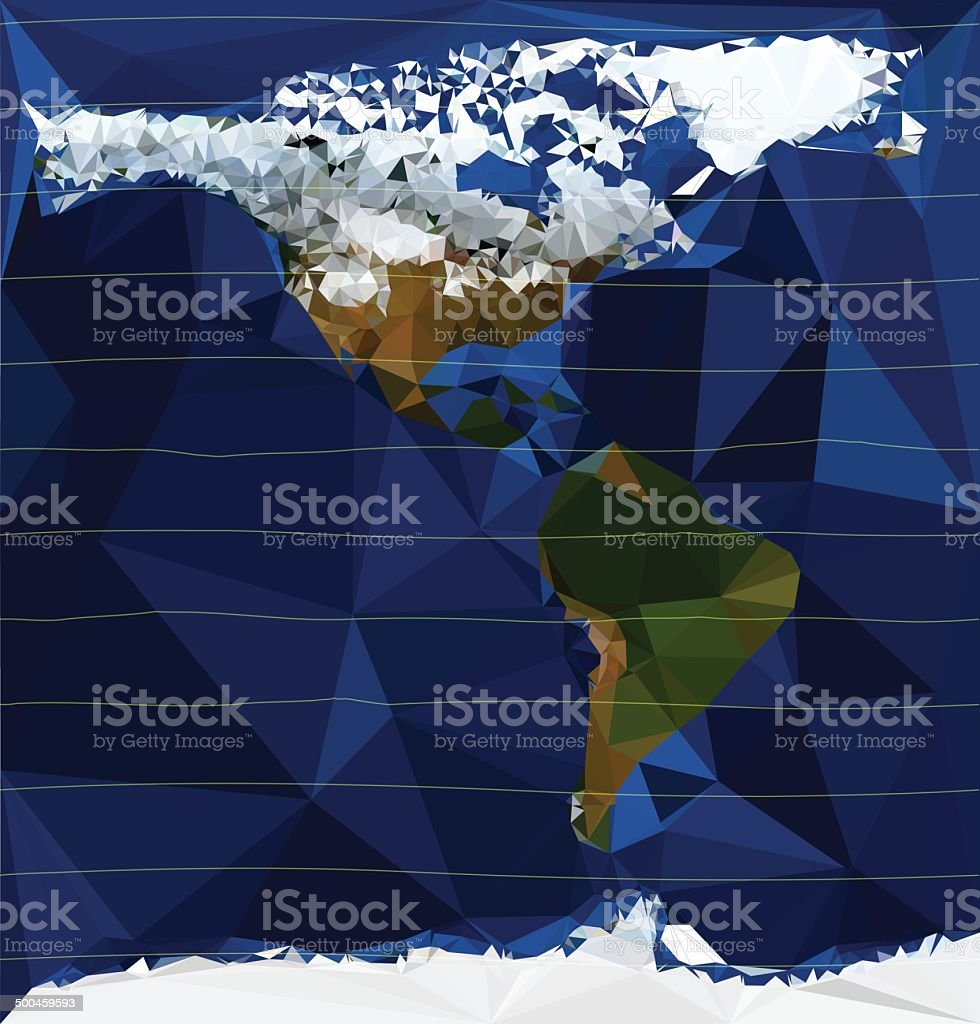 the americas - low poly royalty-free stock vector art