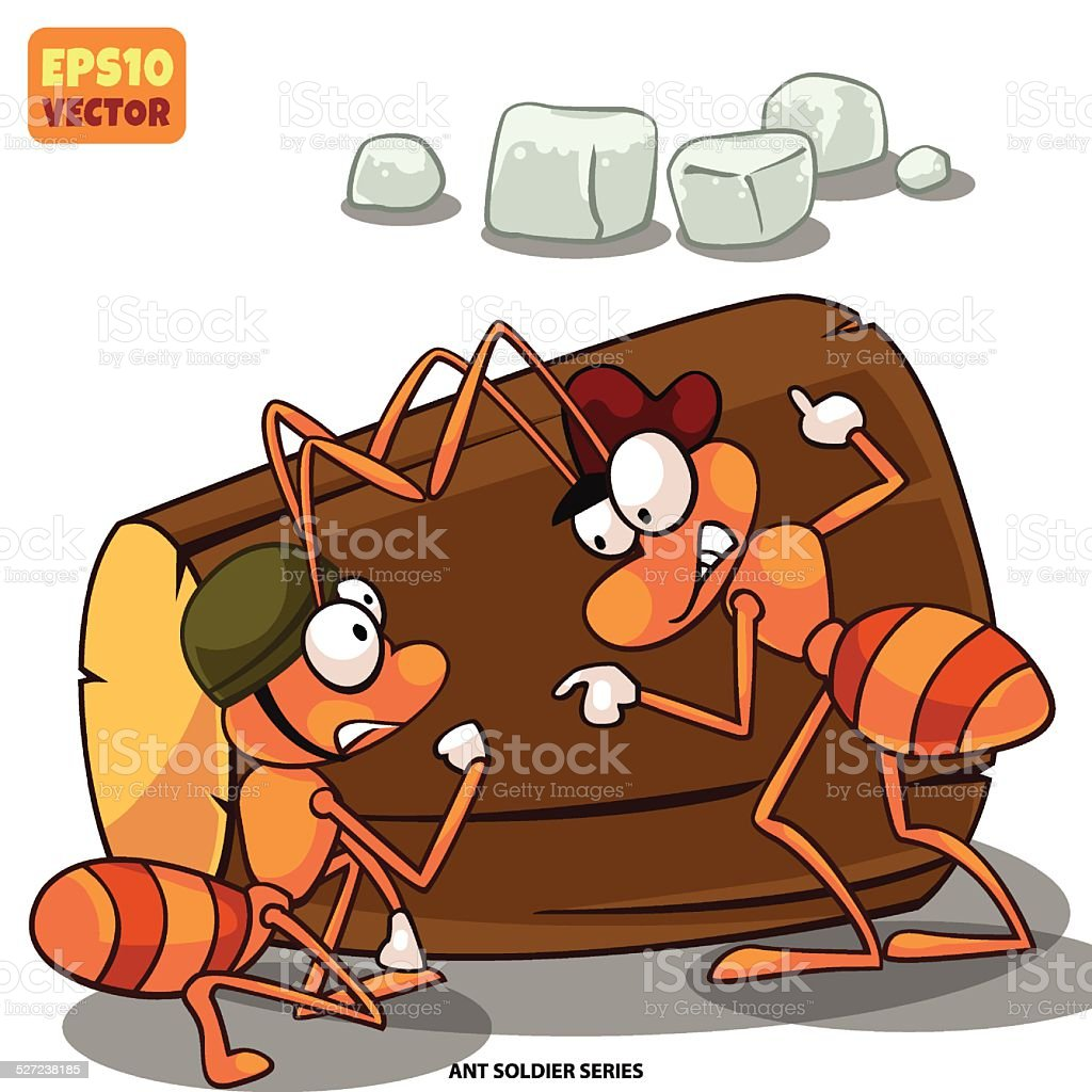 The ant soldier royalty-free stock vector art