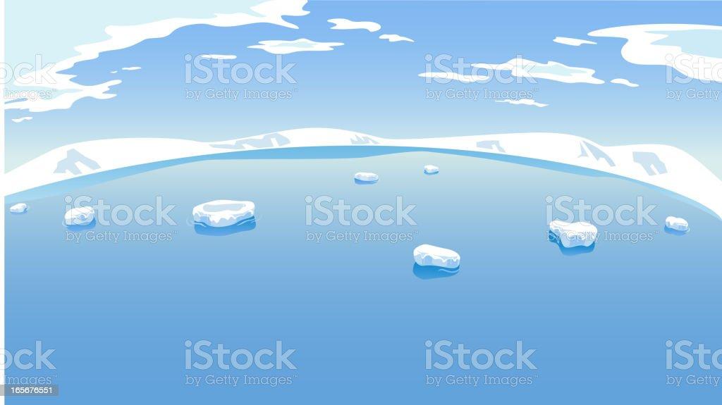 The Arctic vector art illustration