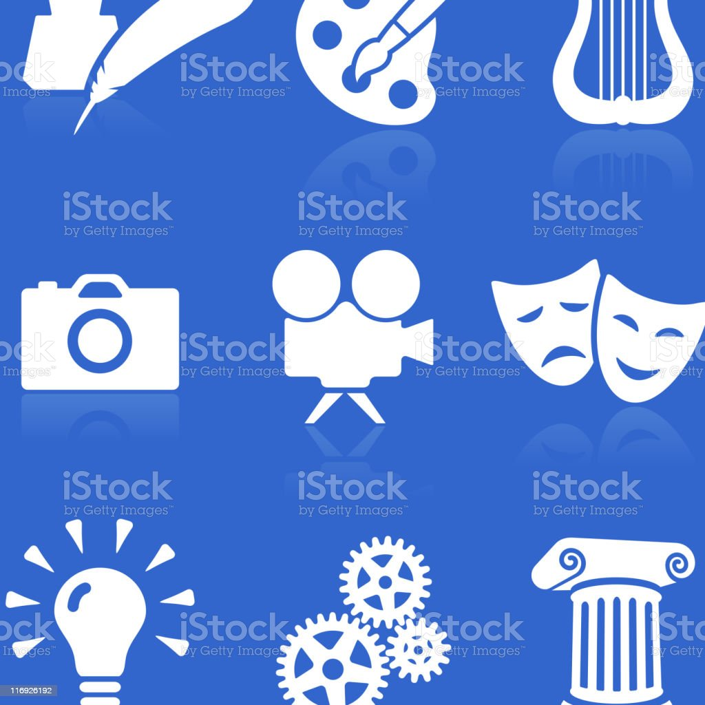 the arts conceptual illustration set royalty-free stock vector art