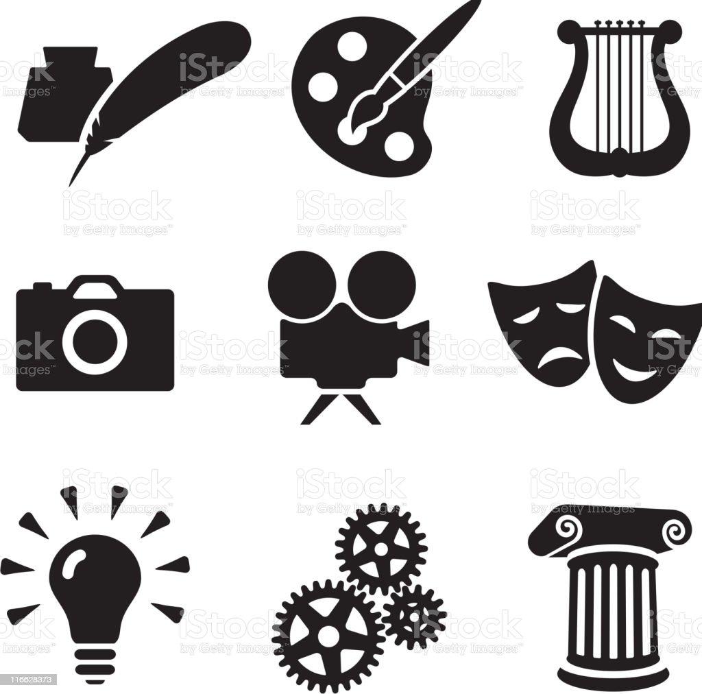 the arts conceptual royalty free vector arts royalty-free stock vector art