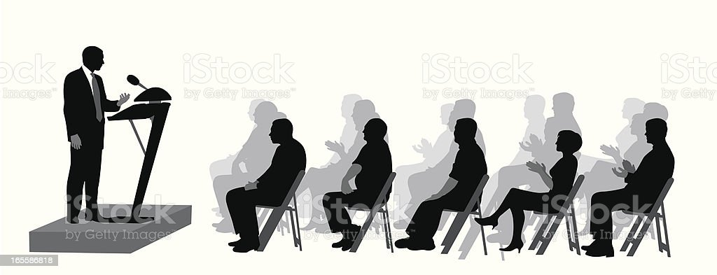 The Audience Vector Silhouette vector art illustration