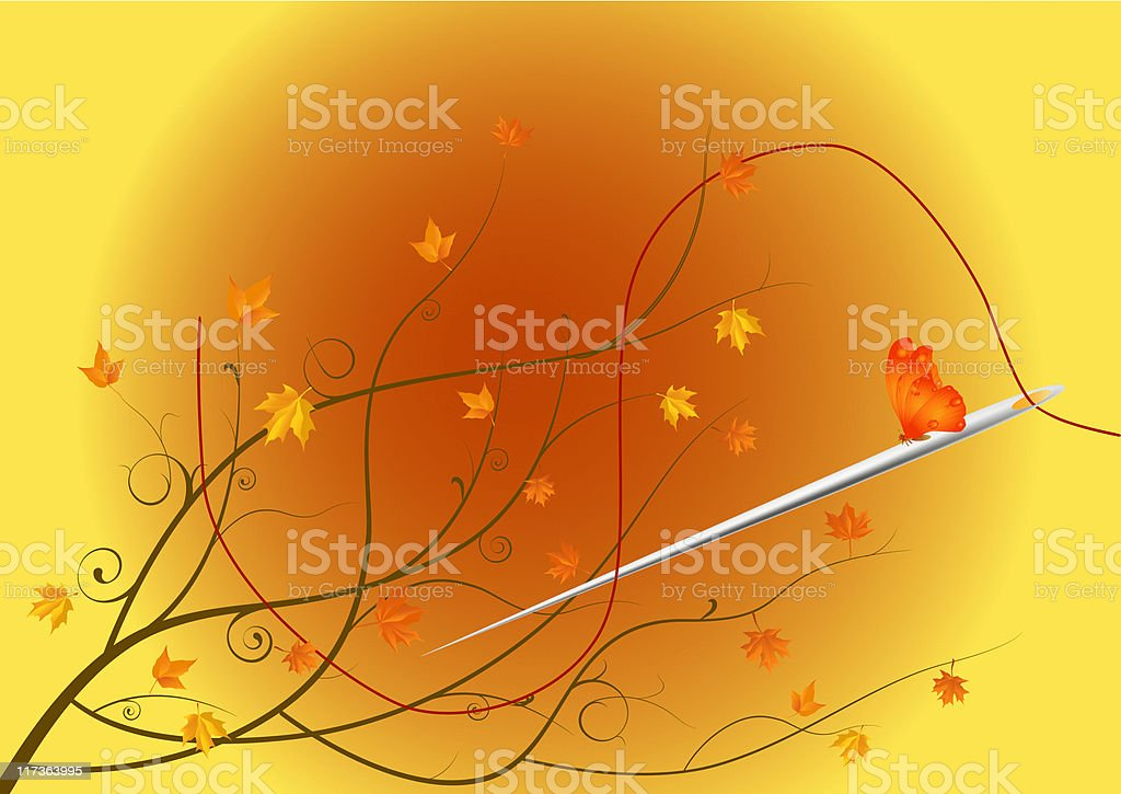 the autumn tailor royalty-free stock vector art