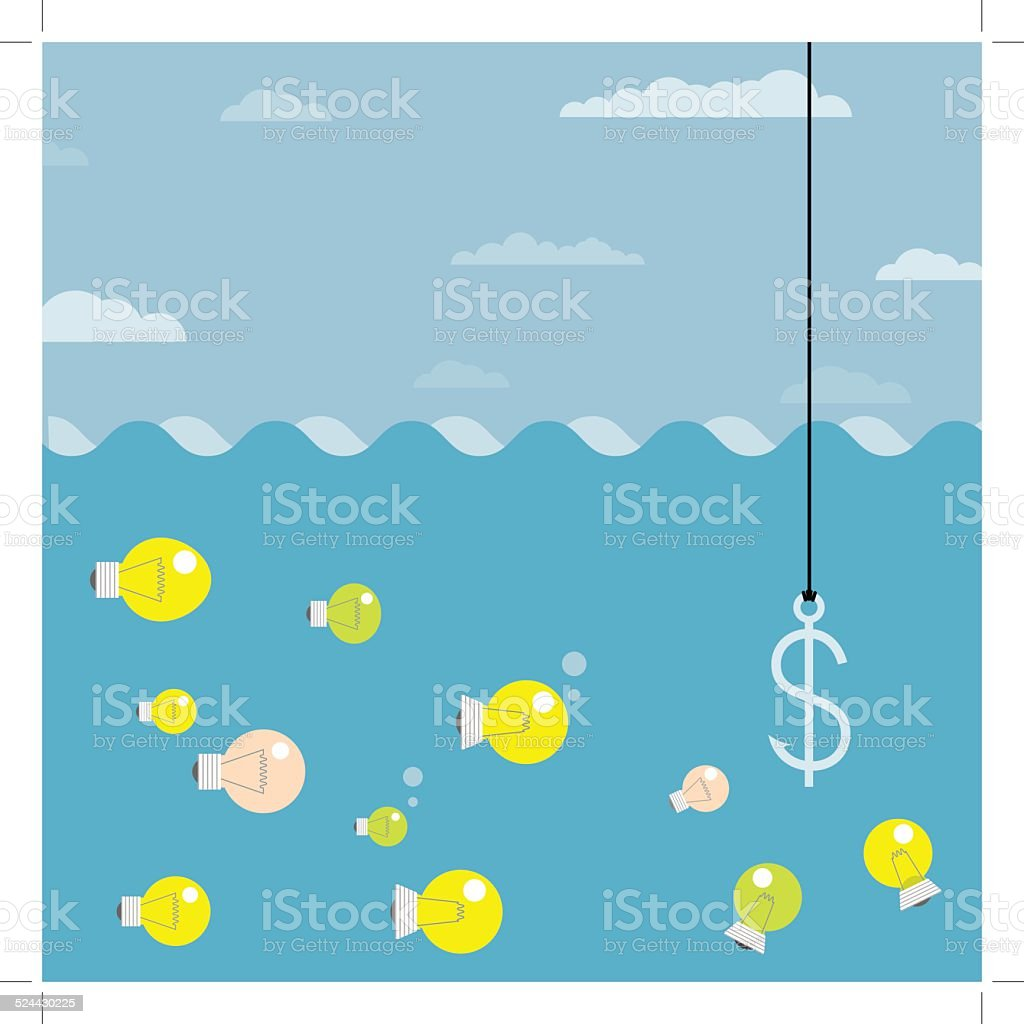 The bait royalty-free stock vector art