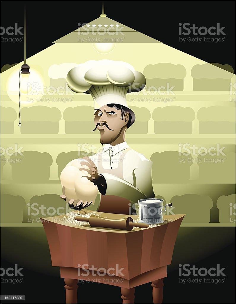 The Baker royalty-free stock vector art