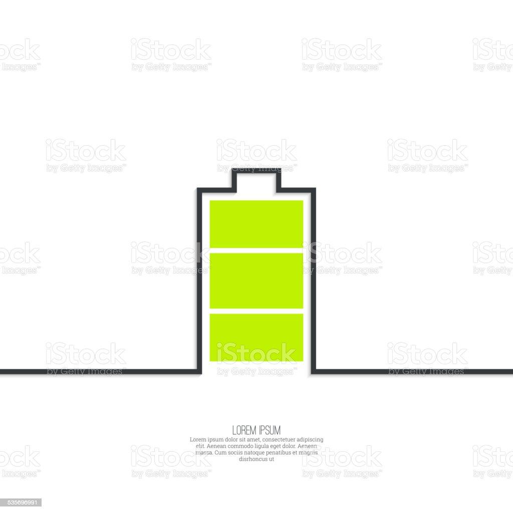 The battery icon vector art illustration