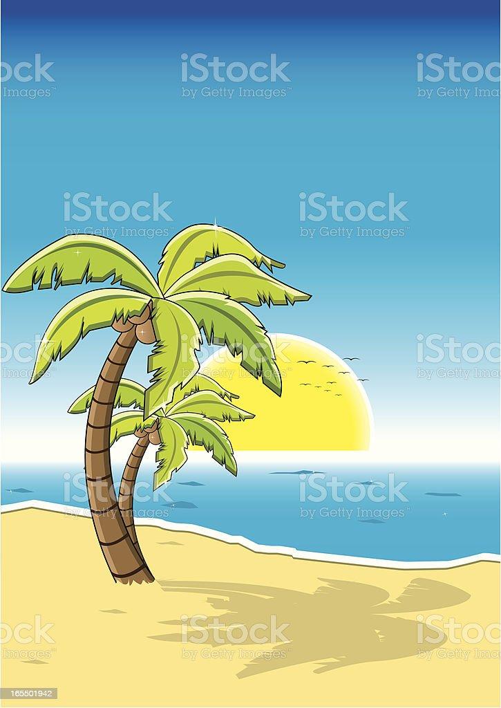 The beach royalty-free stock vector art