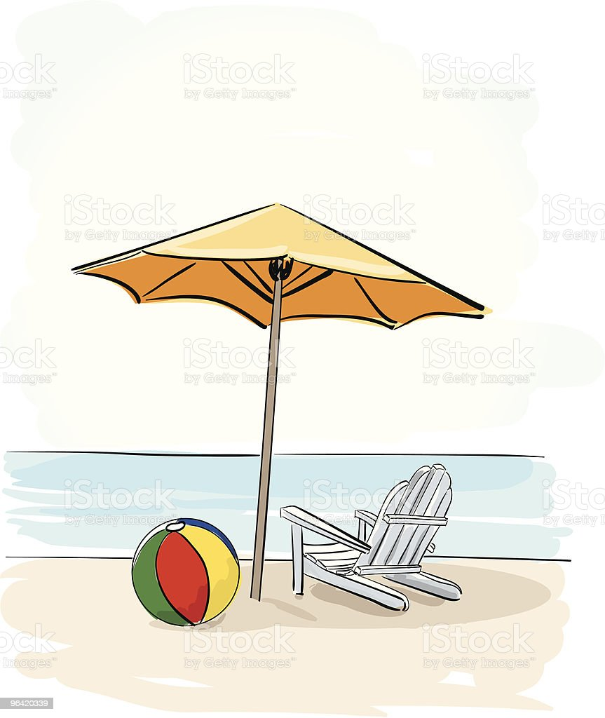 The Beach royalty-free stock vector art