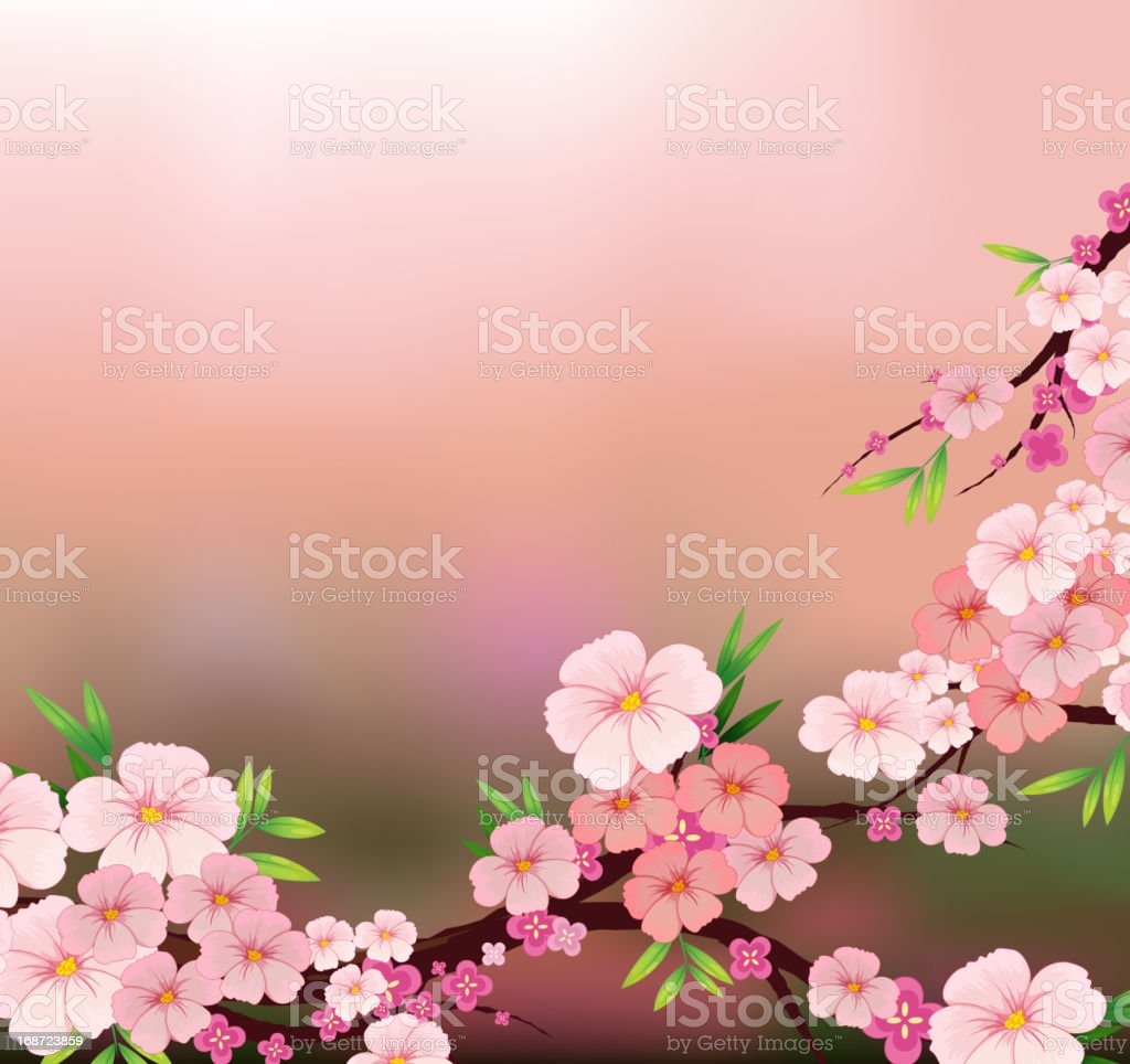 The beauty of fresh flowers royalty-free stock vector art