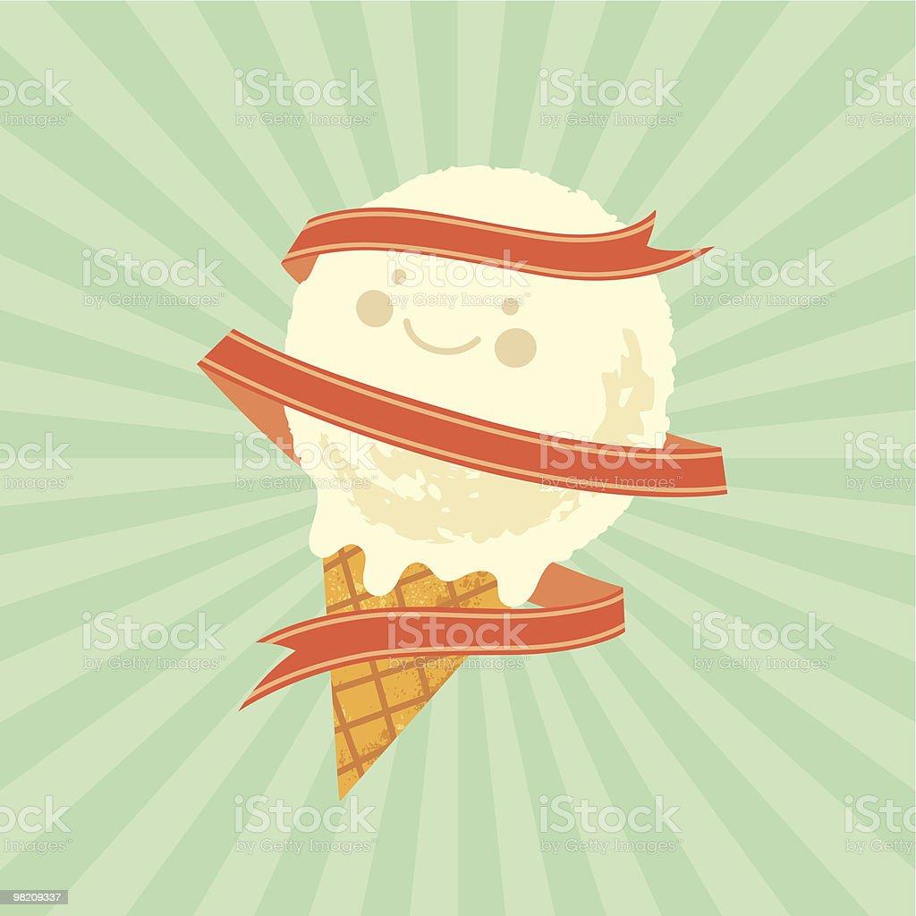 The Best Ice Cream! royalty-free stock vector art
