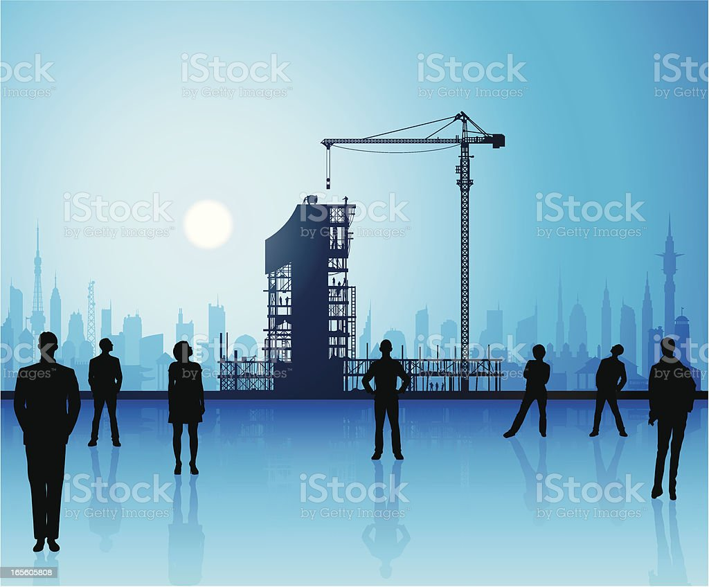 The Best in Blue, Under Construction royalty-free stock vector art