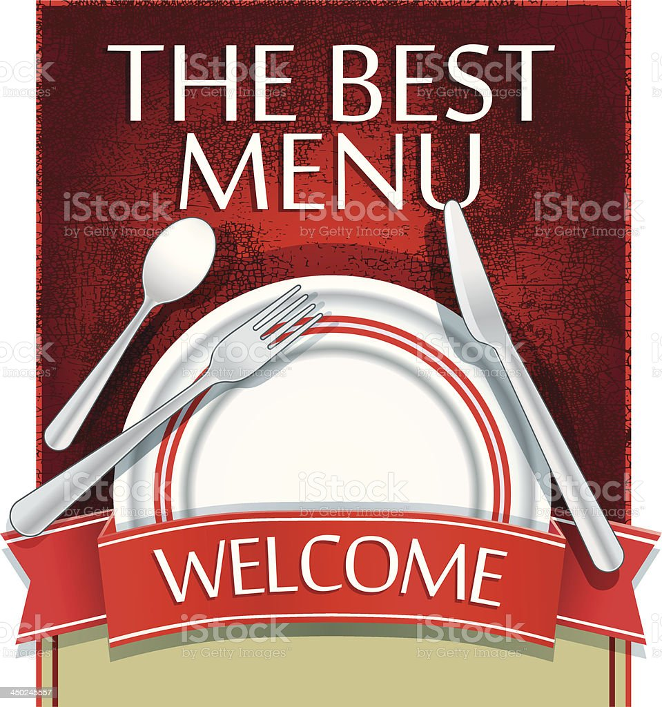 The best menu royalty-free stock vector art