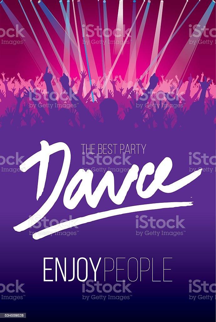 The Best Party Dance vector art illustration