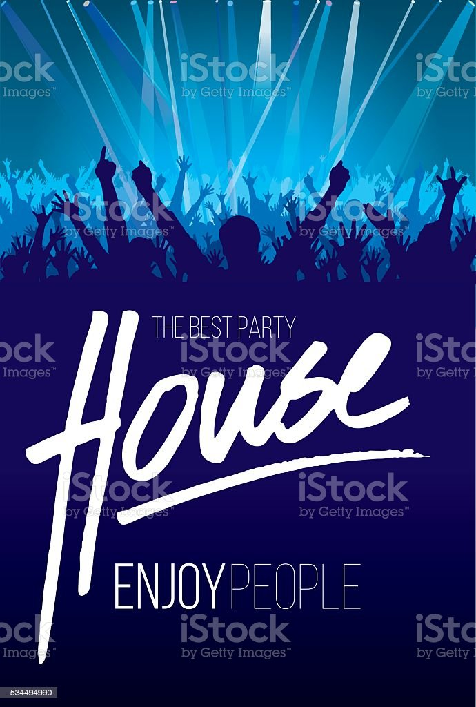 The Best Party House vector art illustration