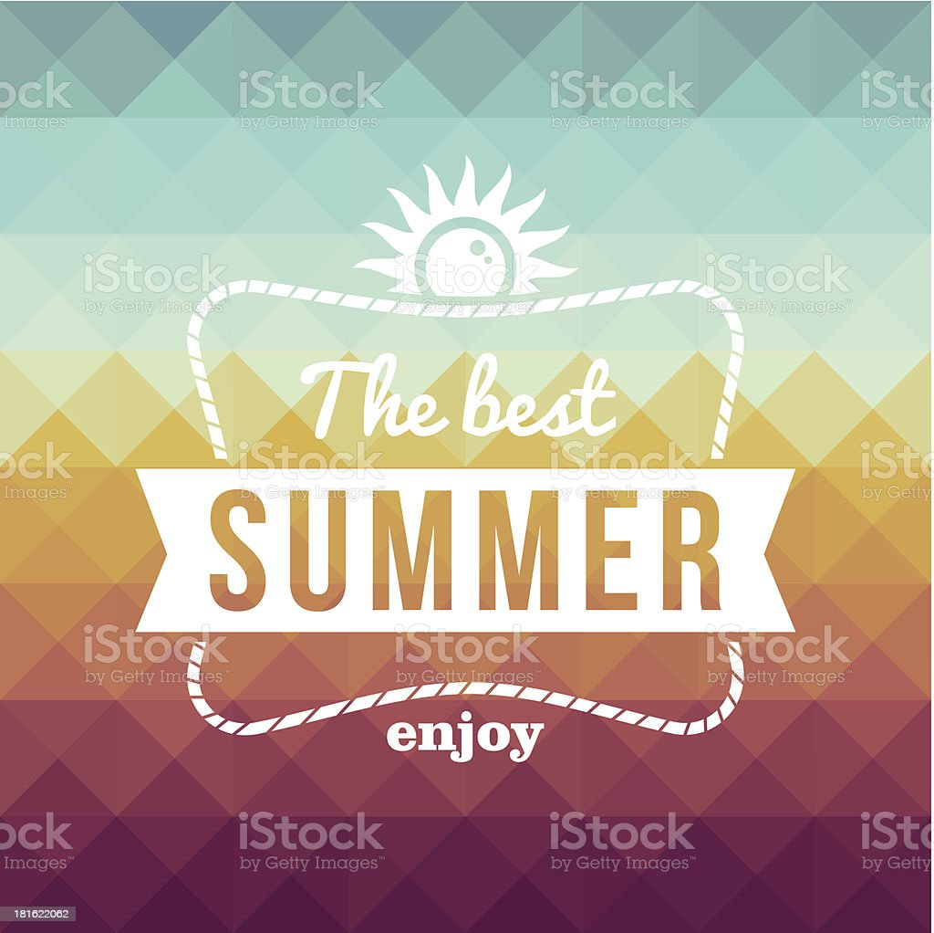 The best summer poster vector art illustration