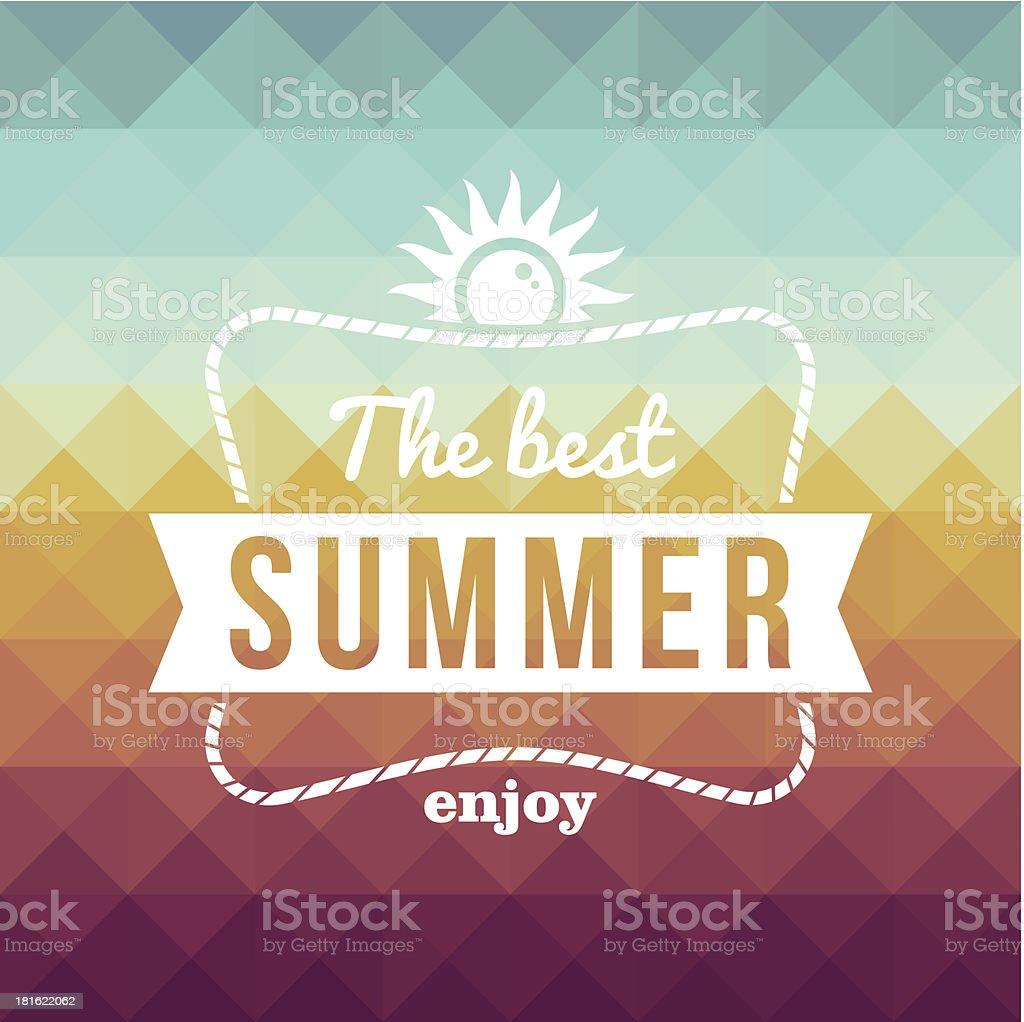 The best summer poster vector art illustration
