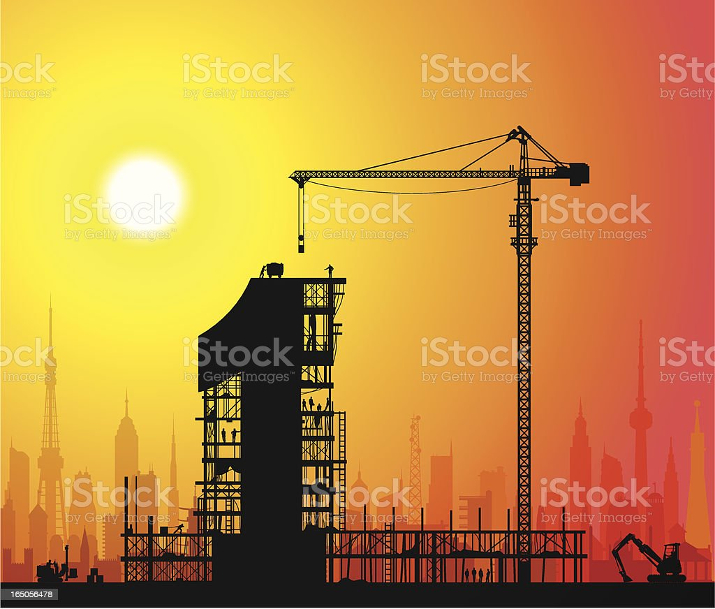 The Best Under Construction royalty-free stock vector art
