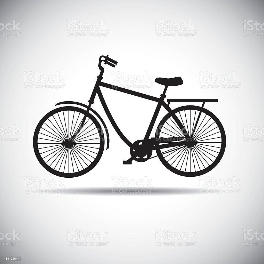 The Bicycle icon stock photo