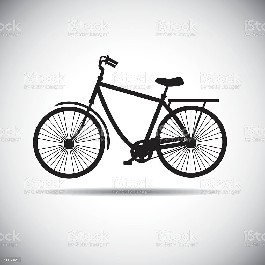 The Bicycle icon vector art illustration