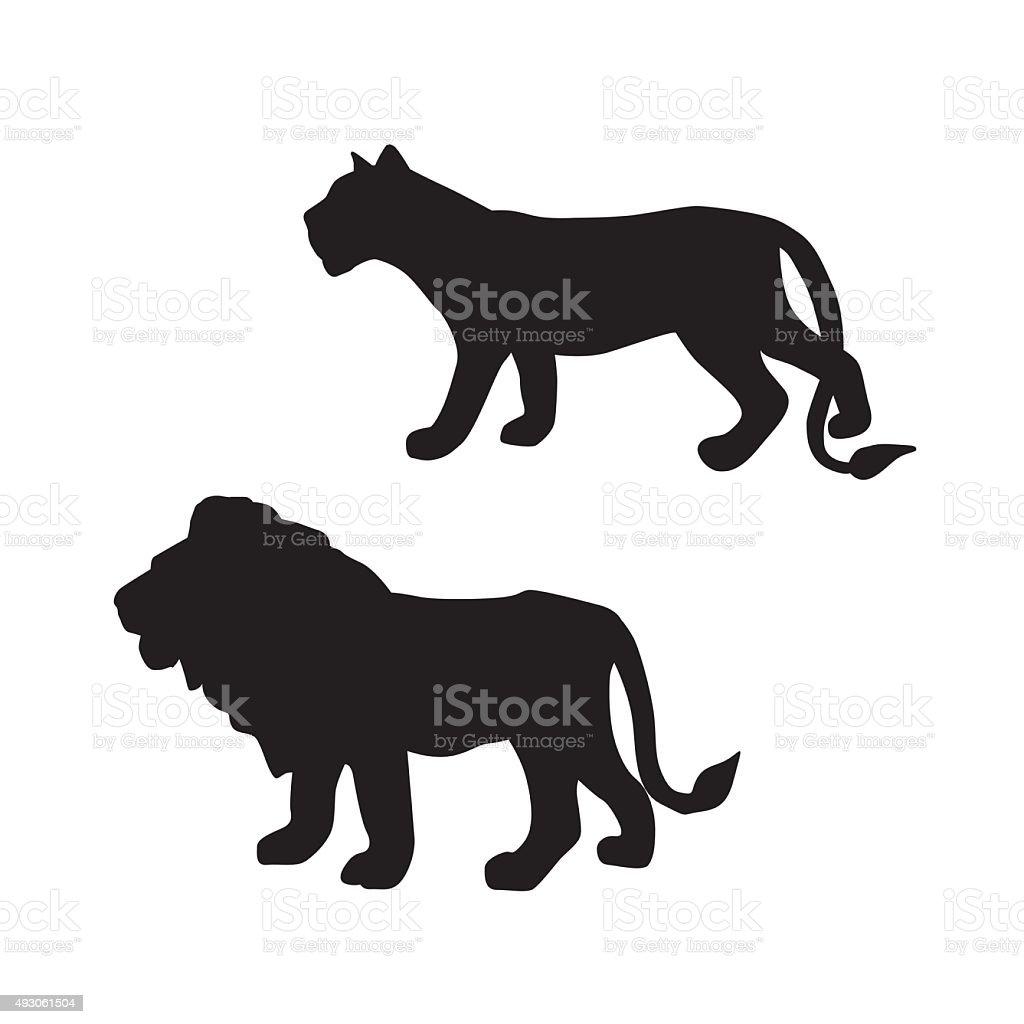 The Big Cats vector art illustration
