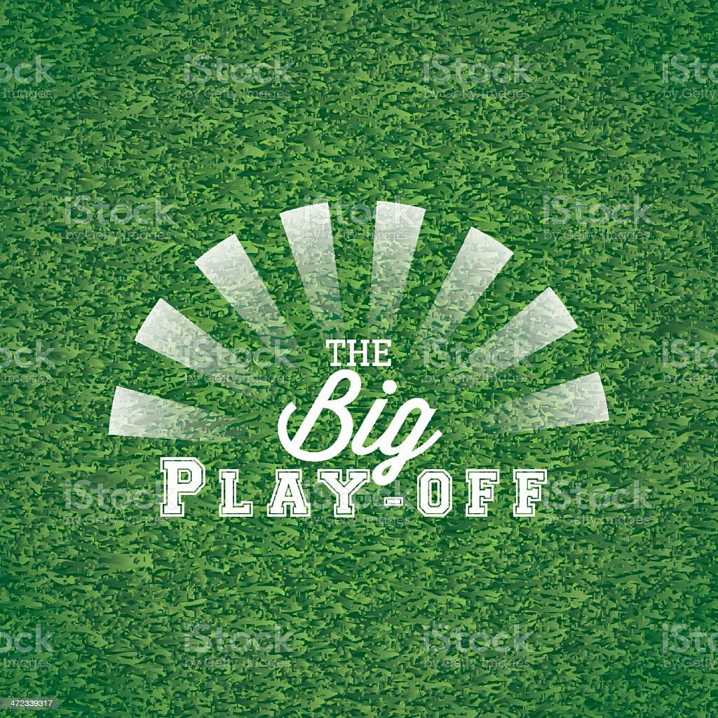 The big play off royalty-free stock vector art