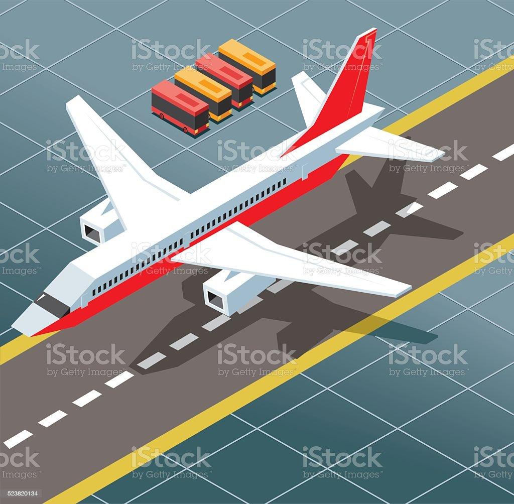 The bird landed vector art illustration