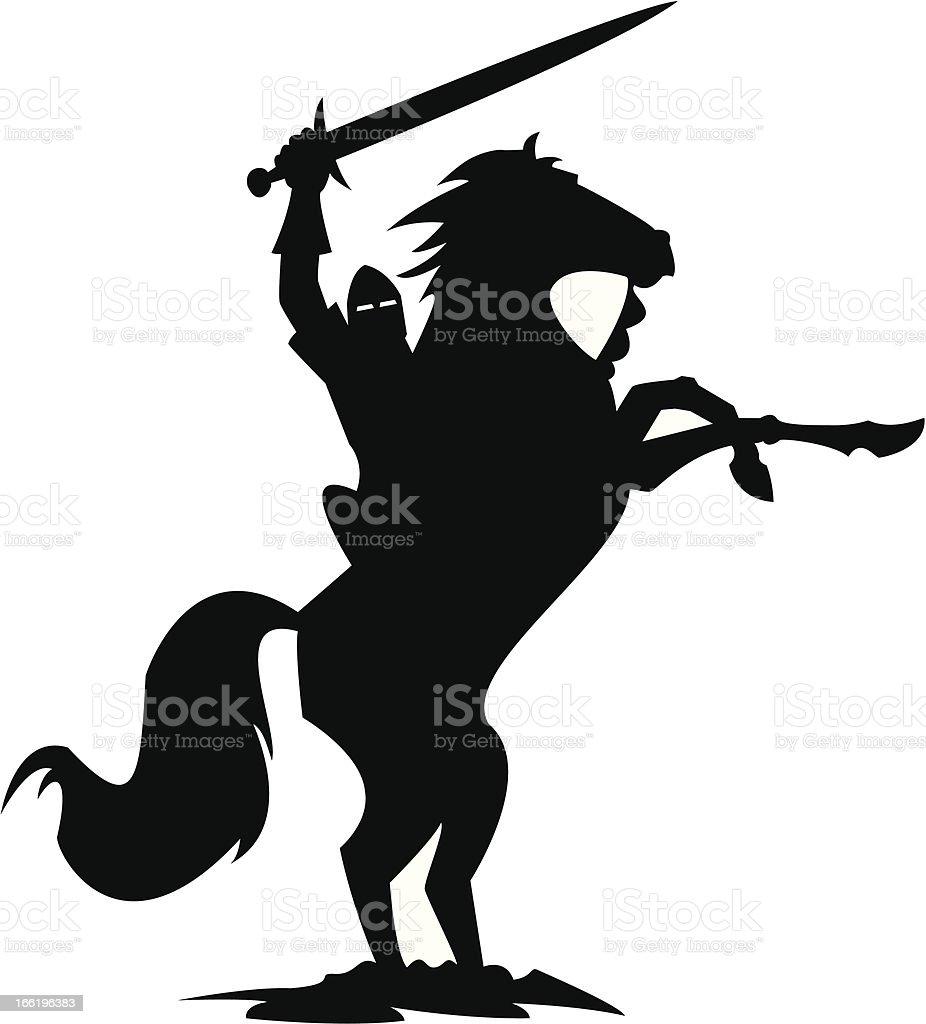 The Black Knight vector art illustration