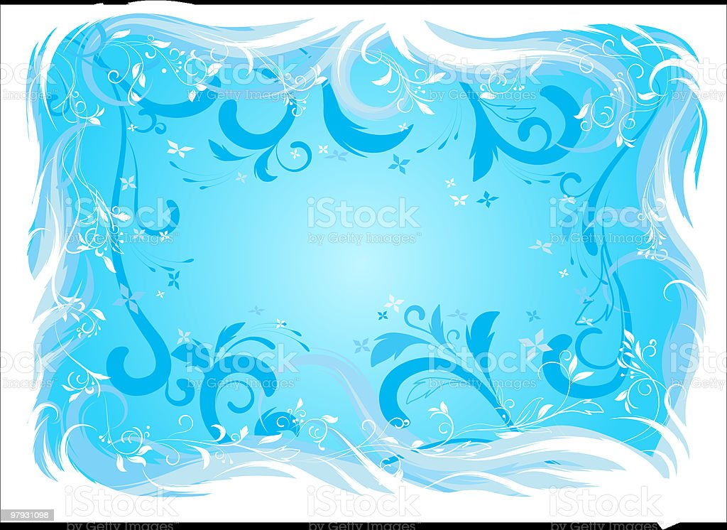 The blue background. royalty-free stock vector art