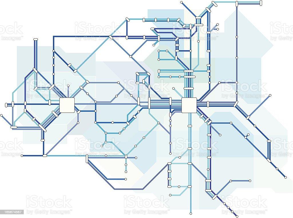 The Blue Line vector art illustration