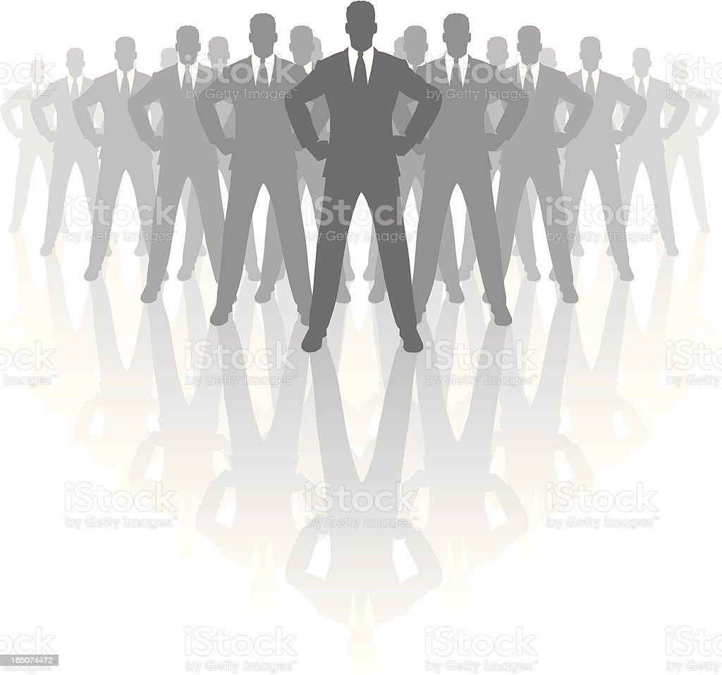 The boss. vector art illustration