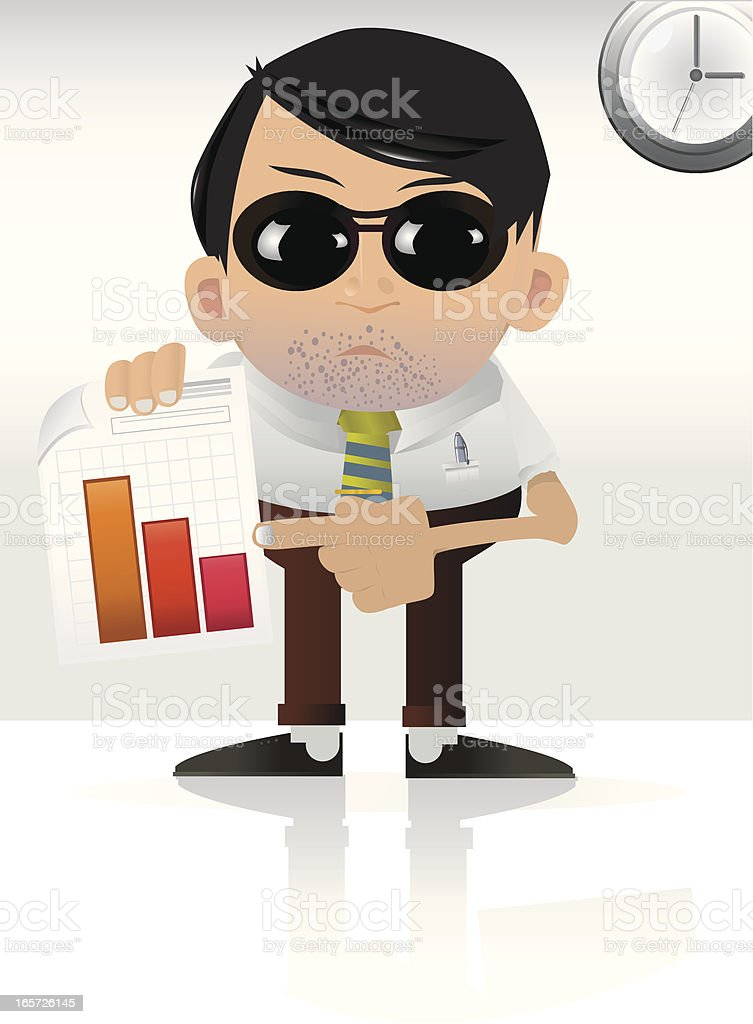 The Boss royalty-free stock vector art